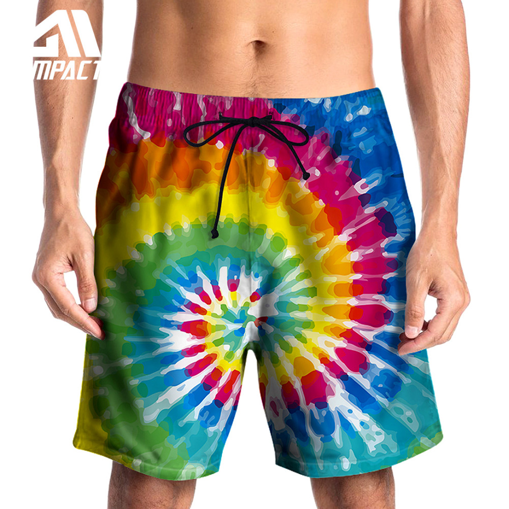 Fashion 3D Print Summer Men's   Board     Shorts   Tie Dyed Colorful Sea Beach Surfing Pool Swimming   Short   Trunks Casual   Shorts   AM2124