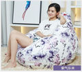 Ywxuege Living Room Purple East Sofas Bean Bag Sofa( filler included) Linen Cotton Soft Sofa Bed Suit For Bed