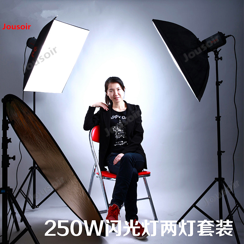 Falconeyes professionnel photographie lampe 250 W modèle vêtements sac de tir Flash deux lampe ensemble SS-250A CD50 T03
