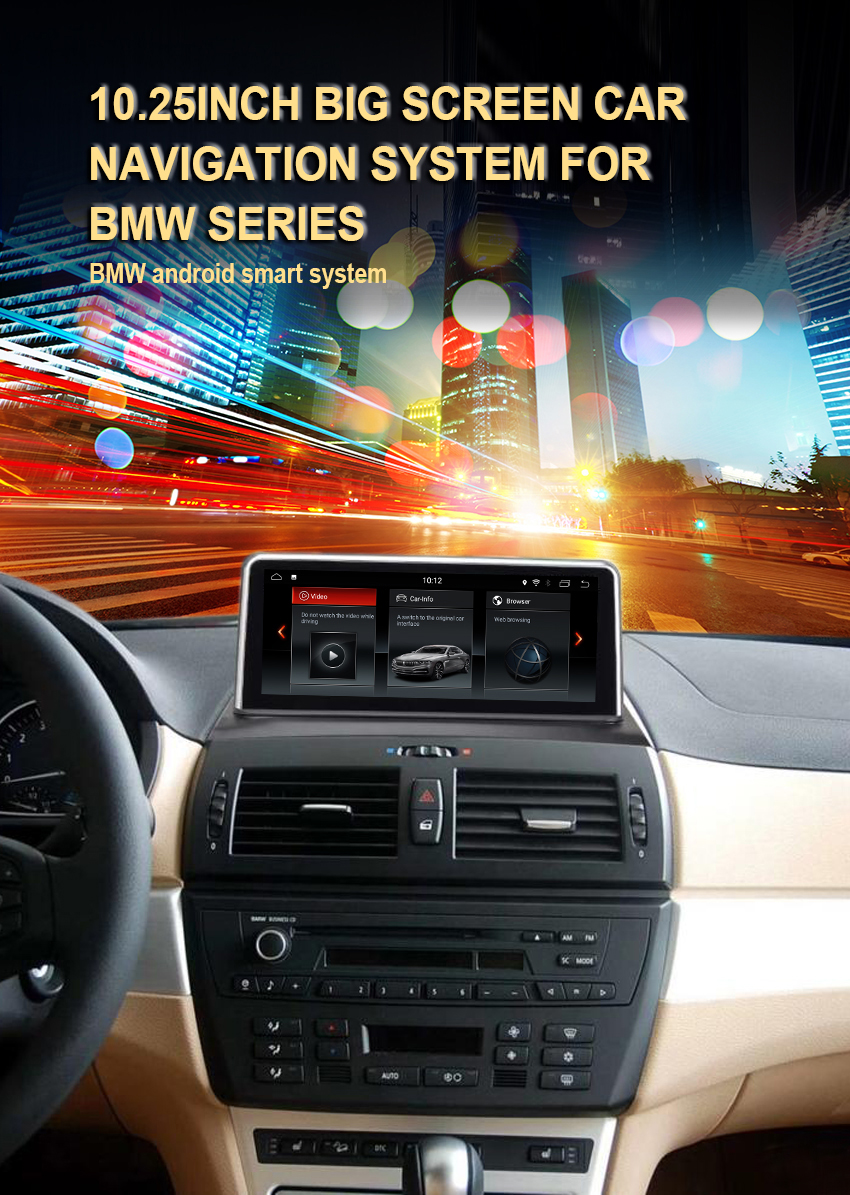 1Koason 10.25 Inch IPS Touch Screen For BMW X3 E83 Android 7.1 System 2+32G RAM GPS Navi Multimedia Player MP5 Stereo WIFI BT AUX