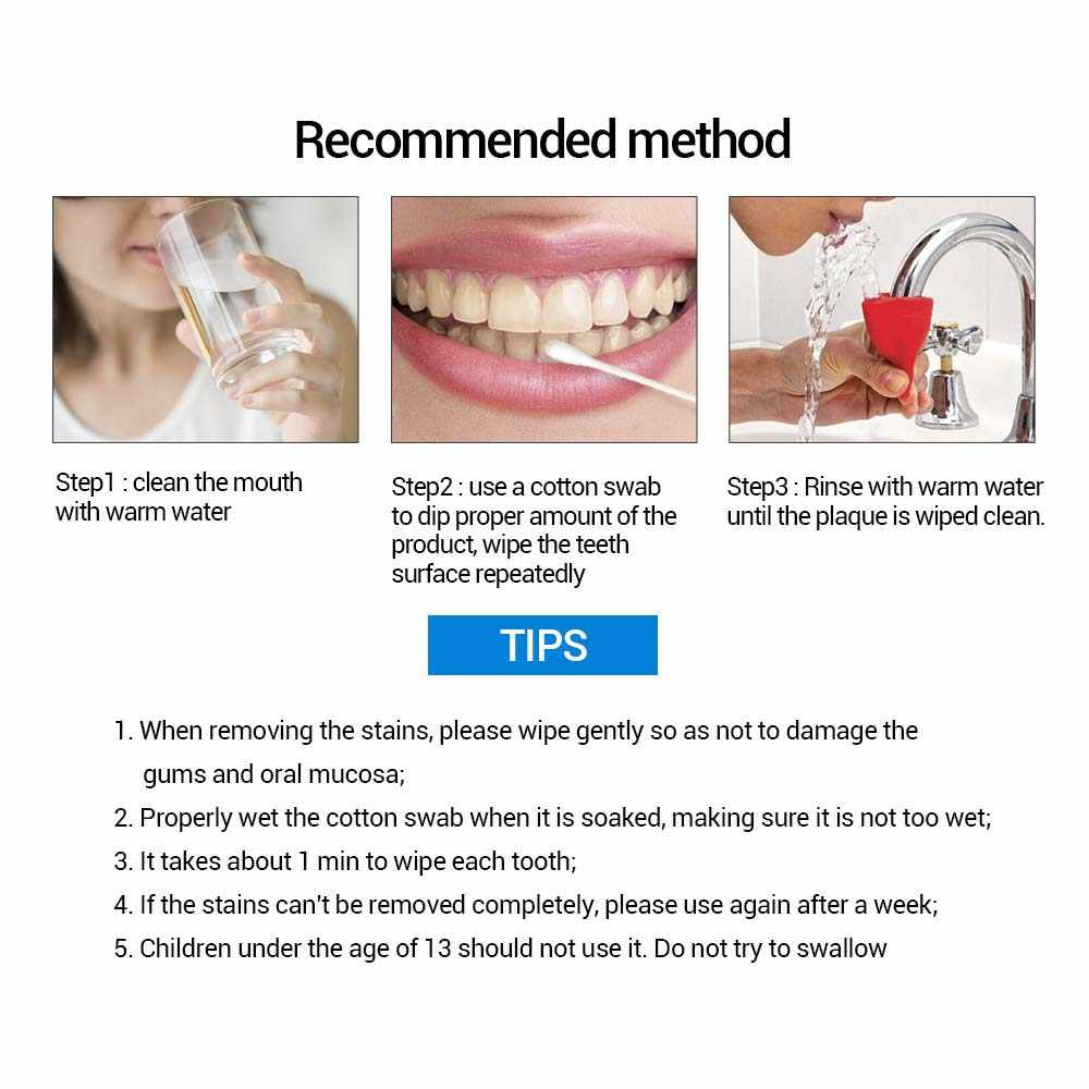 LANBENA teeth whitening essence powder oral hygiene cleaning serums removes  dental plaque dyes whitening dental instruments toot