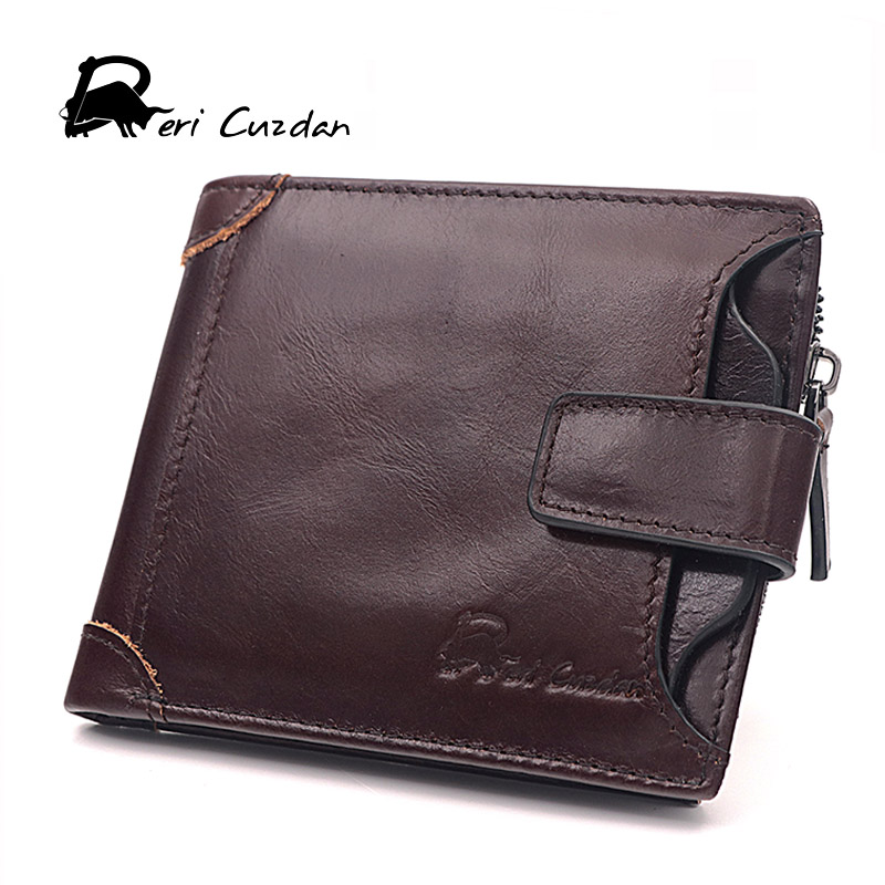 DERI CUZDAN Famous Brand Genuine Leather Men Wallets with Coin Zipper Pocket Male Purse Credit Card Holder Wallet Man Wallet Men just star women s pu leather handbag ladies cartoon cat embroidery tote shoulder purse female leisure messenger bags jz4492