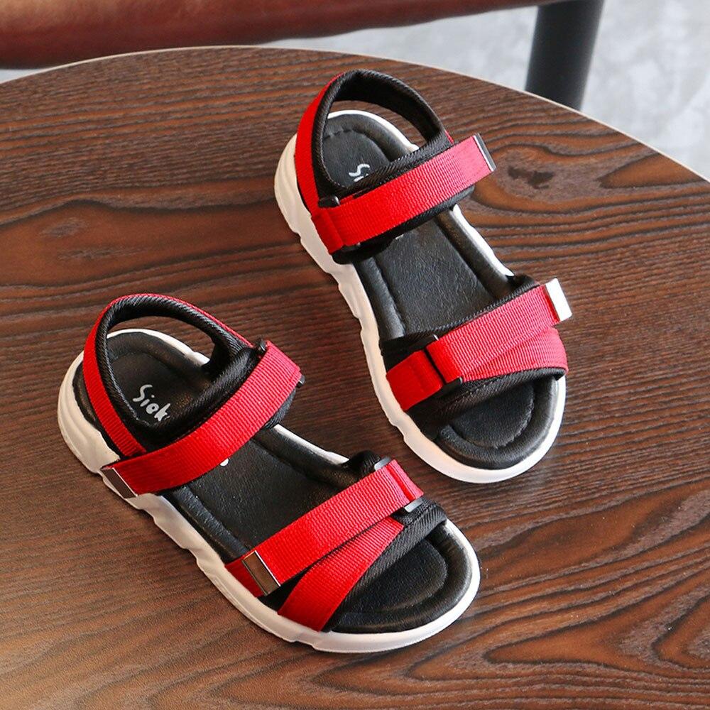 2018 Fashion Toddler Children Boys Girls Solid Sandals Kids Shoes Baby Beach Sandals Garden Children Summer Sandals