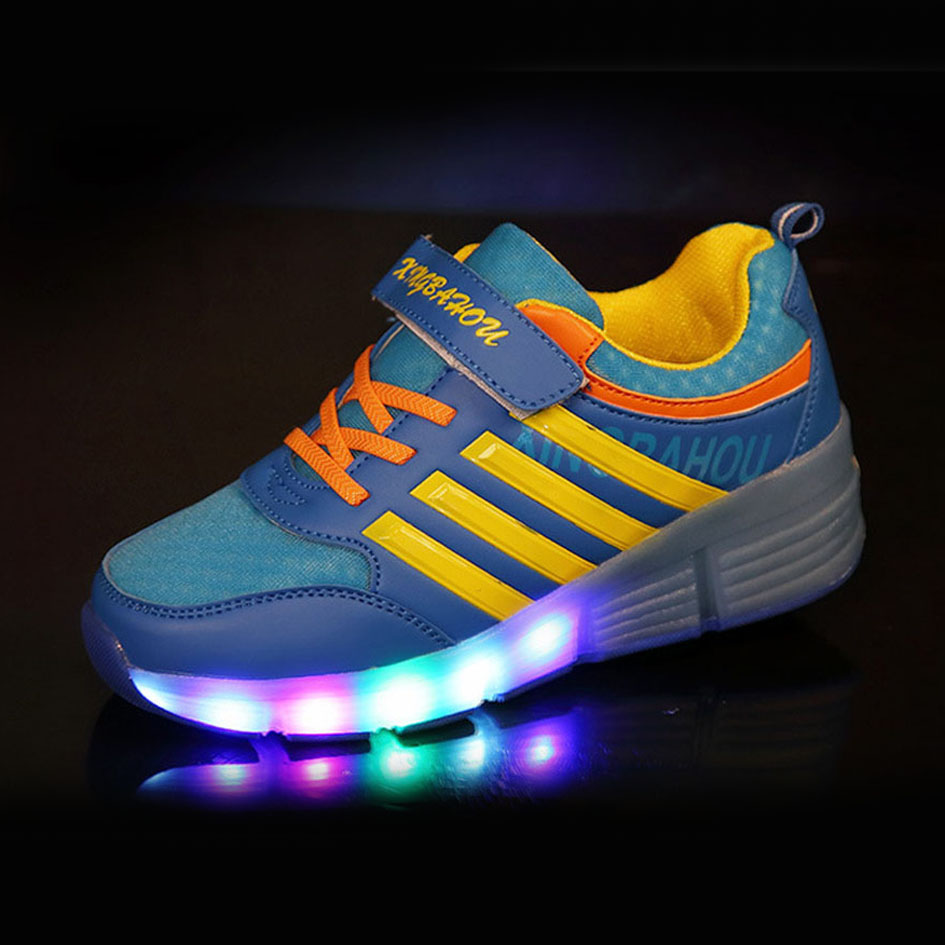Buy roller shoes online australia - New Autumn Children S Glowing Sneakers With Wheels Roller Skates For Children Boys Led Light Shoes For