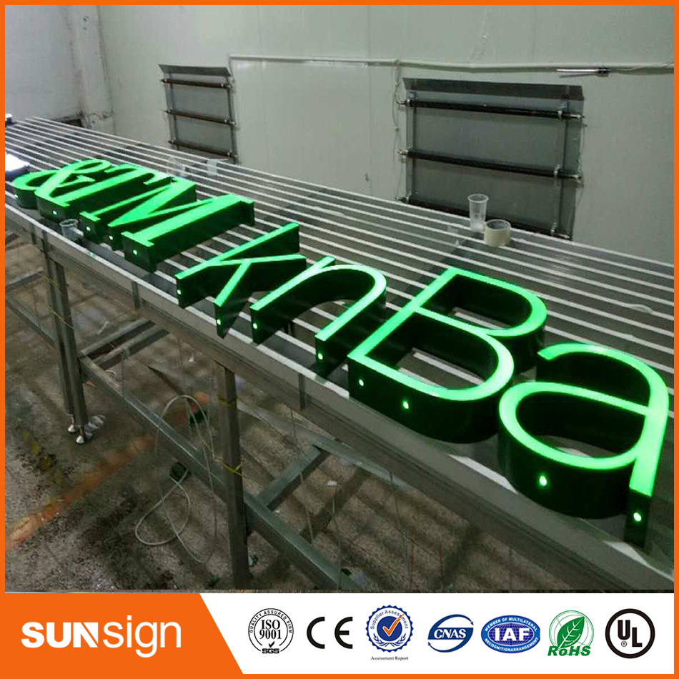 Illuminated Advertising Frontlit Resin Led Letters