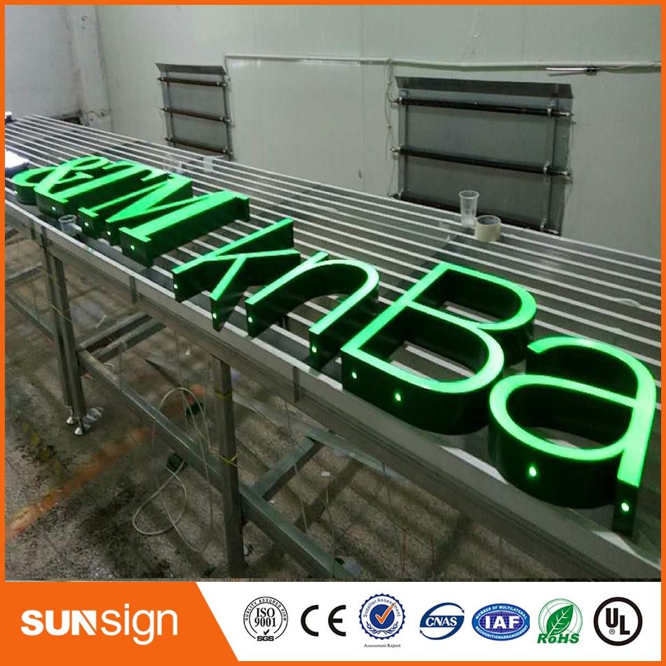 Illuminated Advertising Frontlit Resin Led Letters