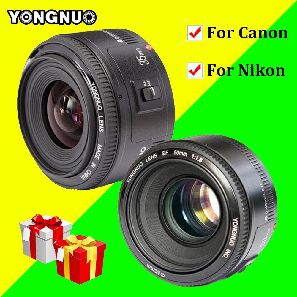 YONGNUO YN35mm F2.0 AF/MF Fixed Focus Lens,YN50mm F1.8 AF/EF Lens for Nikon F Mount D7100 D3200 D3300 D3100 D5100 D90 for Canon yongnuo yn35mm f2 0 f2n lens yn50mm lens for nikon f mount d7100 d3200 d3300 d3100 d5100 d90 dslr camera for canon dslr camera