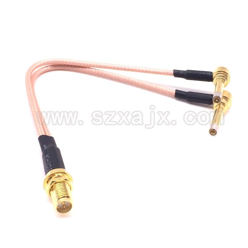 Rp-sma-buchse Y typ 2X IP-9 MS156 männlichen Splitter Combiner kabel zopf RG316 Eine SMA punkt 2 MS156 stecker für LTE Yota