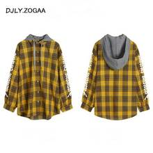 ZOGAA 2019 New Women's Hooded Shirt Fashion Charm Personality Letter Unique Design Female Shirts Lucky Solid Men Jacket Coat