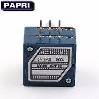 1 UNIDS Japón ALPES RK27 Tipo 2 * 50KA potenciómetro Estéreo De Audio Amplificador de Tubo HIFI DIY
