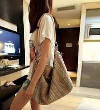 New Fashion Women Colorful Casual Summer Straw Bag Beach Tote Handbag