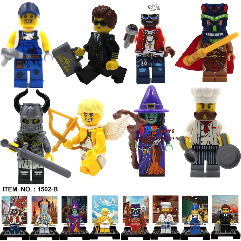 8pcs Witch Angel Knight Chef Patriarch Series star wars super heroes building blocks model bricks toys for children juguetes