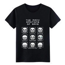 the many emotio ns of sans undertale t shirt Design tee O-Neck clothing Loose New Style Spring Autumn Outfit