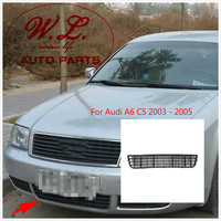 Chrome Front Bumper Air Vent Center Grille 4B0807683L For Audi A6 C5 2003 2005