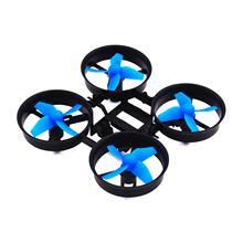 LHI RC Quadcopter Frame and 4pcs Propellers Blue for Eachine E010 Blade Inductrix Tiny Whoop