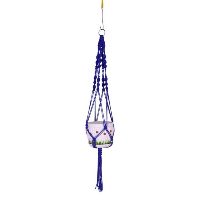 Macrame Plant Hanger Indoor Outdoor Hanging Planter Basket 105cm Hanging Vintage Knotted Lifting Rope Garden Home Decoration
