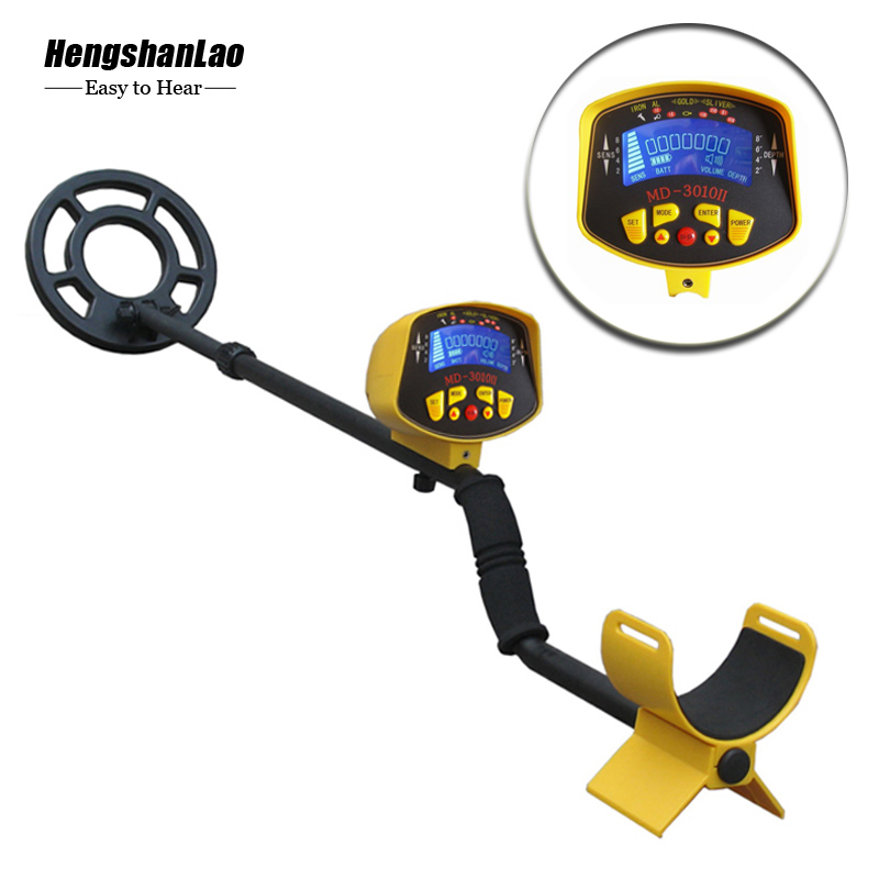 Can Detect Gold And Silver Iron Copper Treasure Hunt Wireless Battery-Powere MD3010II Underground Metal Detector + Hand Detector(China)