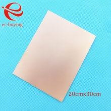 Placa laminada de cobre, placa lateral única ccl 20x30cm 1.4mm bakelite universal prática pcb diy kit 200*300*1.4mm
