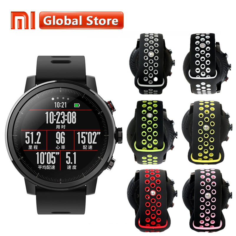xiaomi mi huami amazfit smart watch stratos 2 english version sports smartwatch with gps ppg heart rate monitor 5atm waterproof Original Xiaomi Huami Amazfit Stratos Pace 2 Smart Watch With GPS PPG Heart Rate Monitor Firstbeat VO2max 5ATM Waterproof
