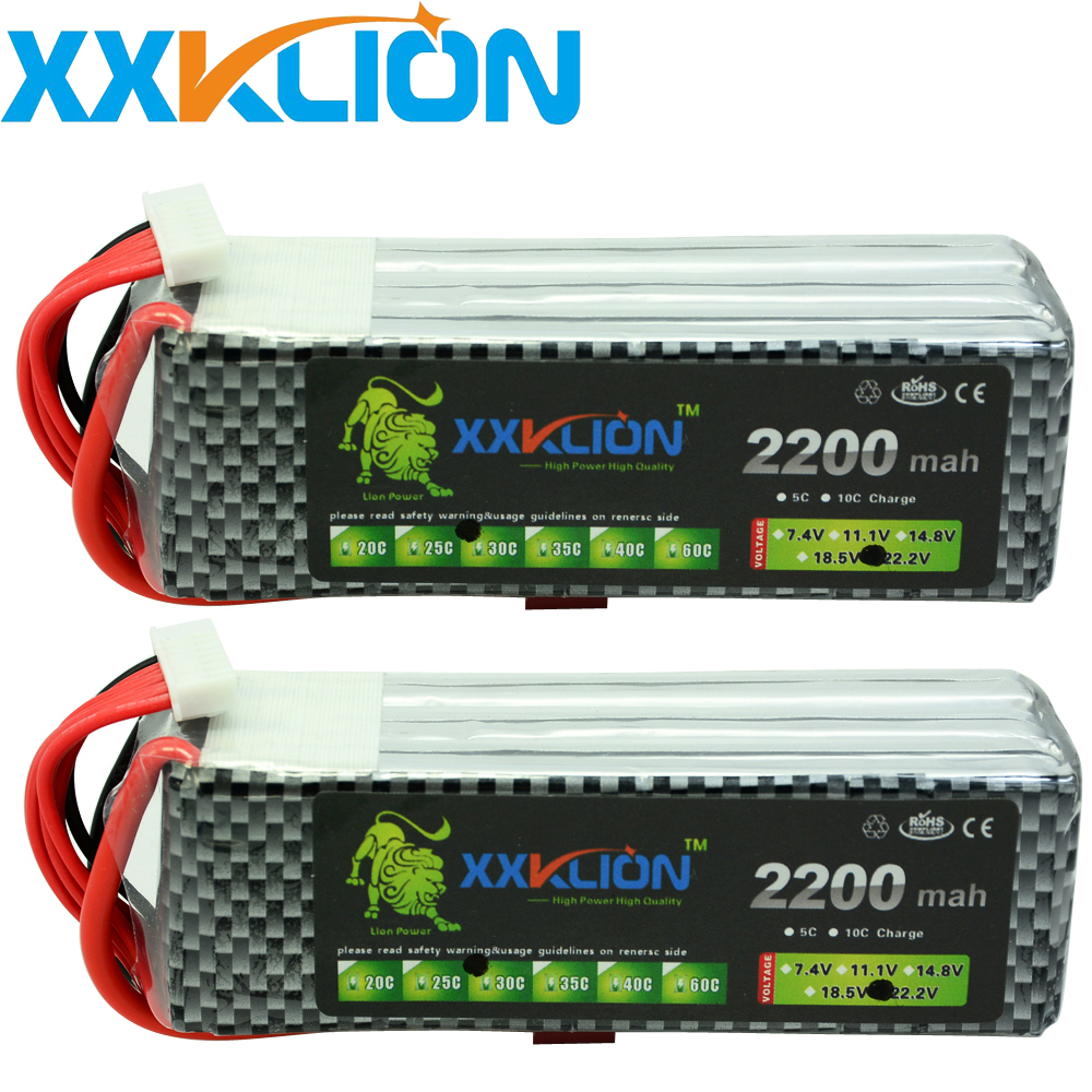 2PCS RC remote control helicopter drone <font><b>Lipo</b></font> battery pack 22.2v <font><b>2200mAh</b></font> 25c 30C 35c 40c <font><b>6s</b></font> rc helicopter rc car rc boat image