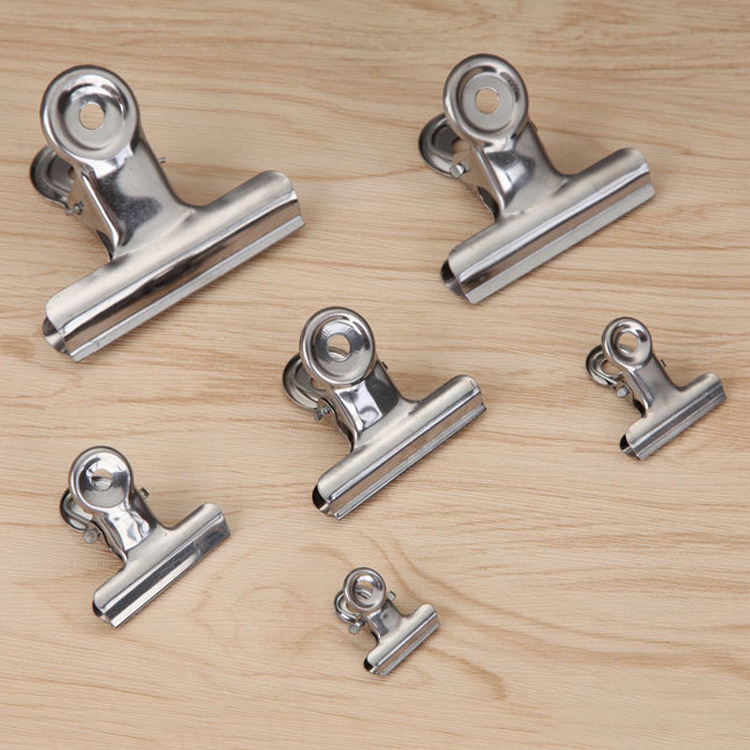 10pcs Office supplies stainless steel strong circular clip 22MM long invoice CLIP wholesale