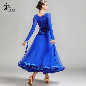 74825fab8 Compare prices Modern Dance Dress Adult Female National Standard  Performance Costume Ballroom Dancing Dresses Suit Long