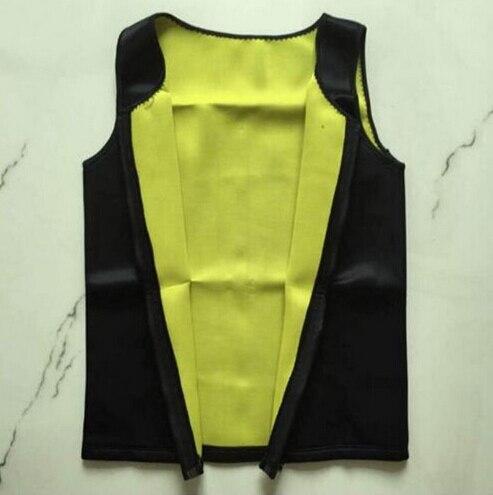 Mens Sweat Neoprene Body Shapers Zipper Vest Tops Slimming Fitness Weight Loss Shapewears Plus Size S-3XL 2