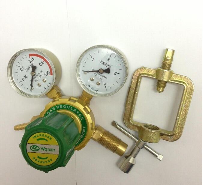 Acetylene pressure regulator Pure copper forging manufacturing oxygen pressure regulator yqy 07 copper o2 pressure regulators