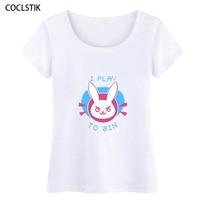 100 Cotton Women S Cool Summer Anime Dva T Shirt Female Crossfit Fitness D Va Cosplay