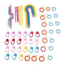 1 Набор АБС-пластика для вязания, спицы для вязания, крючок для вязания крючком, пластиковые маркеры, зажим для игл, рукоделие, вязание крючком, фиксирующий стежок