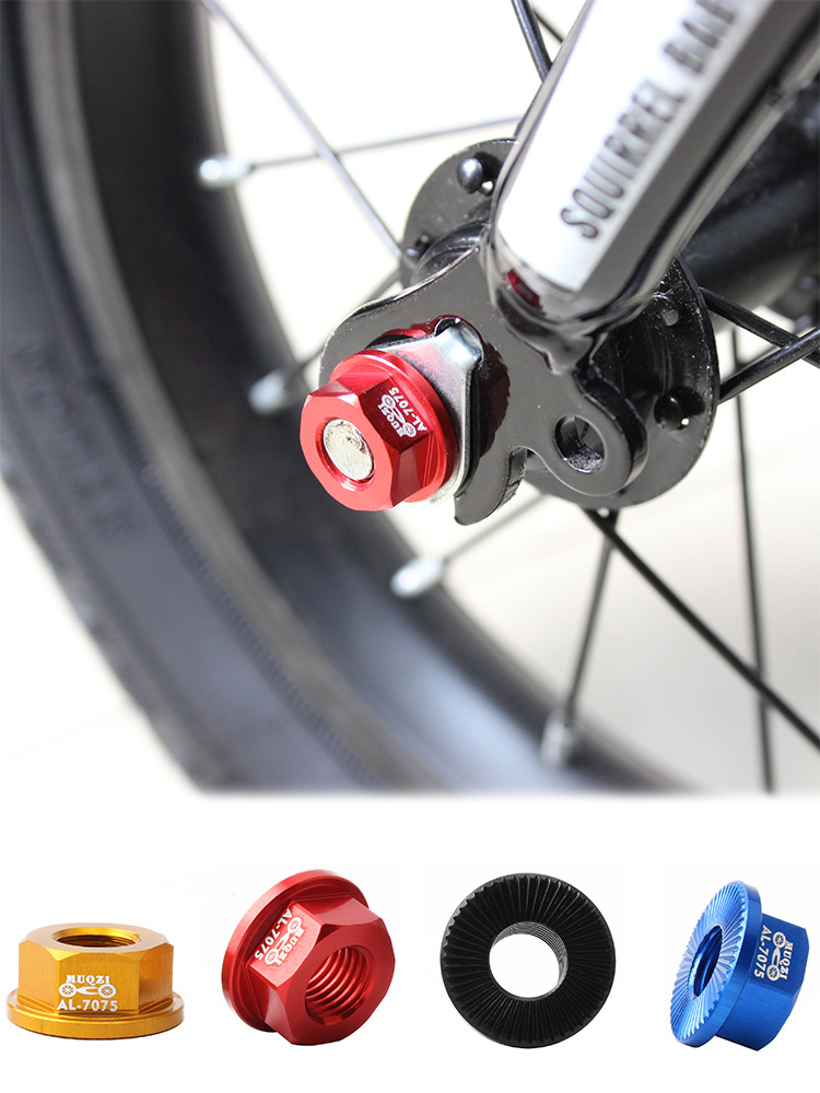 Lightweight Track Wheel Nuts Bicycle BMX Fixie M10 Axle Screw for Rear Hub