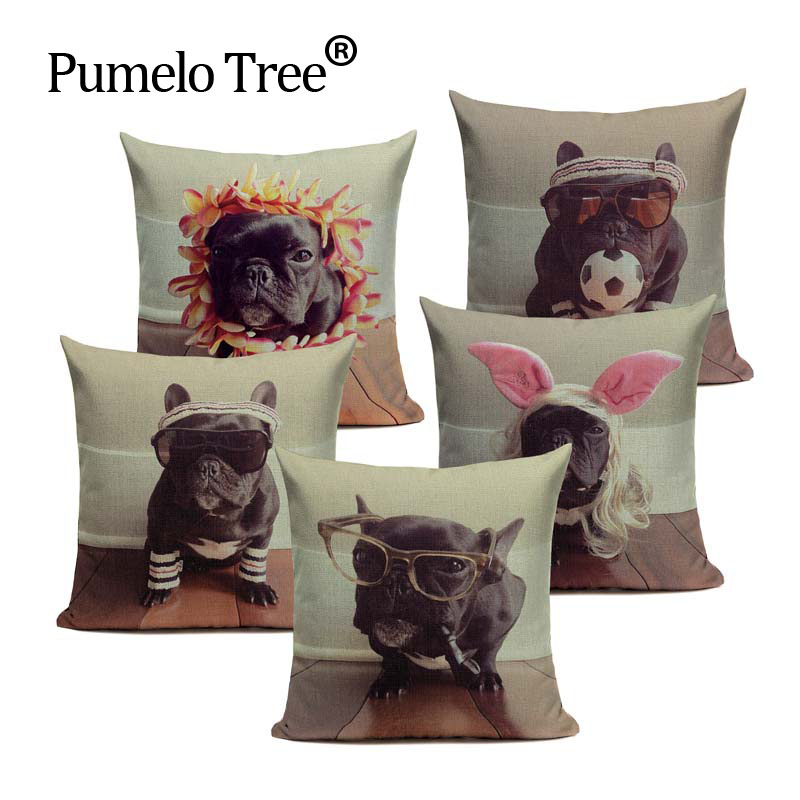 LINKWELL 18x18 World Famous Dog Black Cane Corso Burlap Decorative Pillow Case Cushion Cover Protector Slip