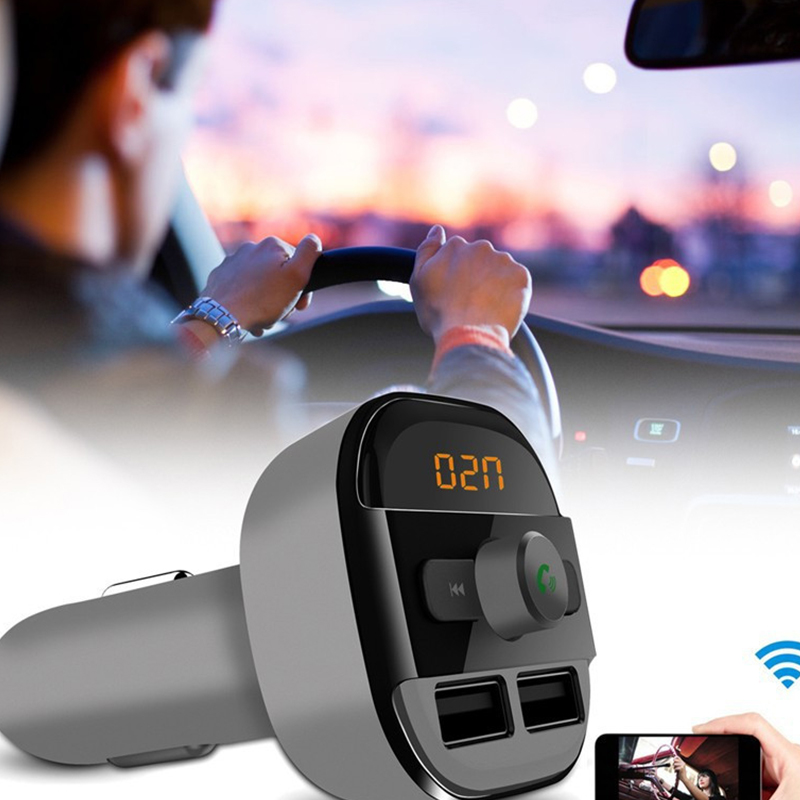Bluetooth Car Kit Wireless FM Transmitter Modulator USB MP3 Audio Player A
