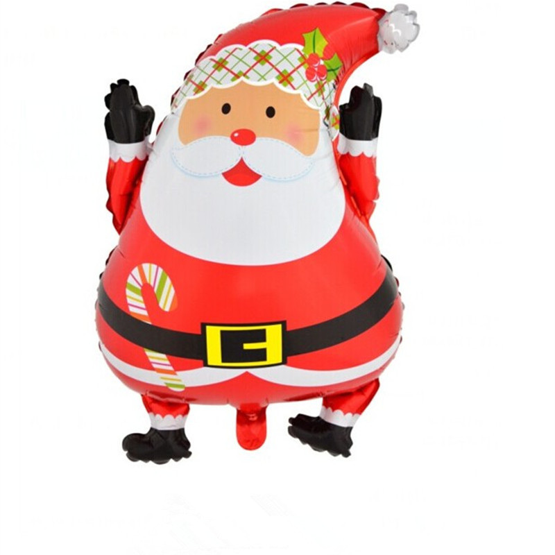 Christmas santa claus foil balloons kids inflatable