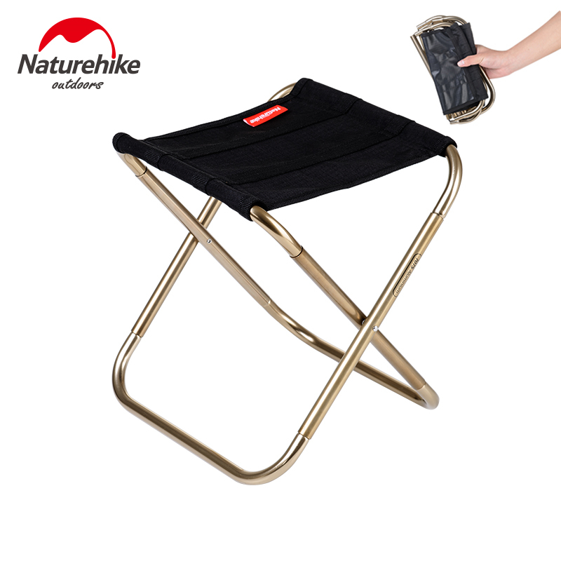 Naturehike Lightweight Outdoor Compact Portable Aluminium Alloy Folding Fishing Stool Collapsible Camping Seats Hiking Stool|Fishing Chairs| |  - title=