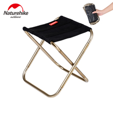 Naturehike Lightweight Outdoor Compact Portable Aluminium Alloy Folding Fishing Stool Collapsible Camping Seats Hiking Stool new folding handicapped wheelchairs for elderly disabled use portable high strength aluminium alloy lightweight medical tool