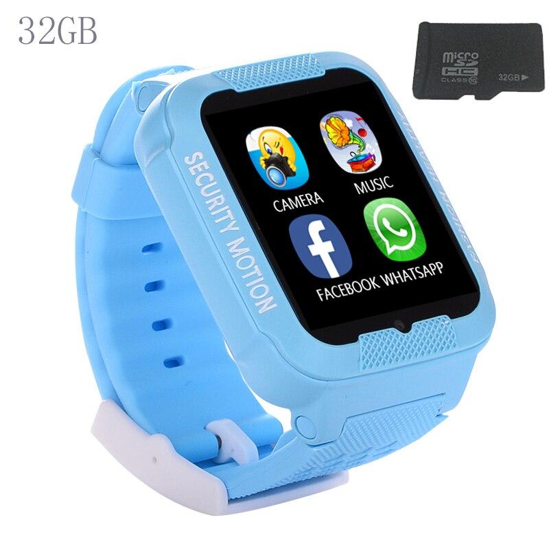 2017 32GB Kids GPS smart watch bluetooth GPS LBS AGPS watch support SIM TF card Voice intercom camera Wearable devices