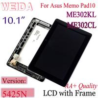 WEIDA 10.1 For ASUS MeMO Pad FHD 10 ME302 5425N K00A LCD Display Touch Digitizer Assembly ME302CL ME302KL K005