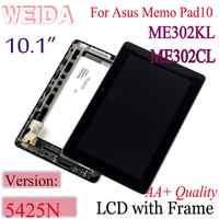 "WEIDA 10,1 ""para ASUS MeMO Pad FHD 10 ME302 5425N K00A LCD pantalla táctil digitalizador Asamblea ME302CL ME302KL K005"