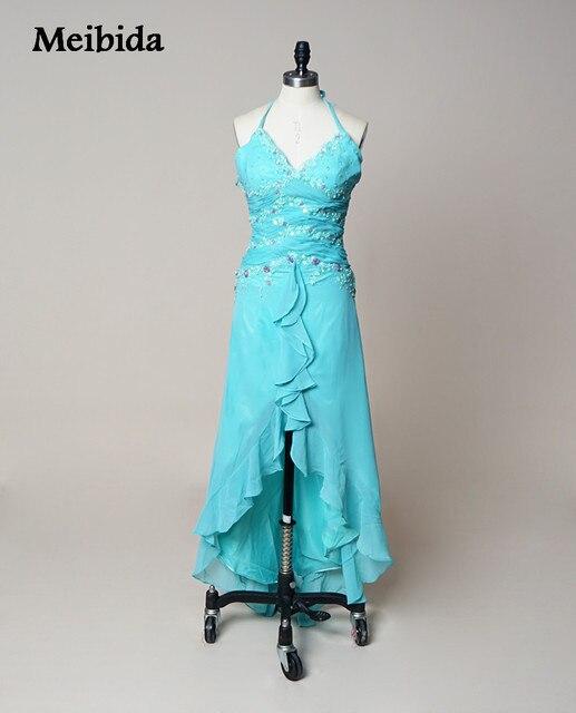 Sexy V ausschnitt Mint Grün Hoch Niedrig Prom Kleider vestidos de ...