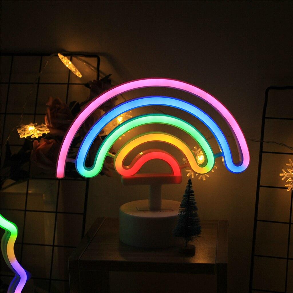 Lampade Al Neon Da Parete us $9.0  tonger carino arcobaleno al neon segno, ha condotto la luce  arcobaleno/lampada per dorm decor, arcobaleno decor lampade al neon,  decorazione