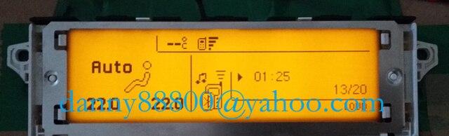 Venta superior pantalla Dual USB-zona aire Bluetooth pantalla amarillo monitor 12 pin para Peugeot 307, 407, 408 citroen C4 C5 pantalla