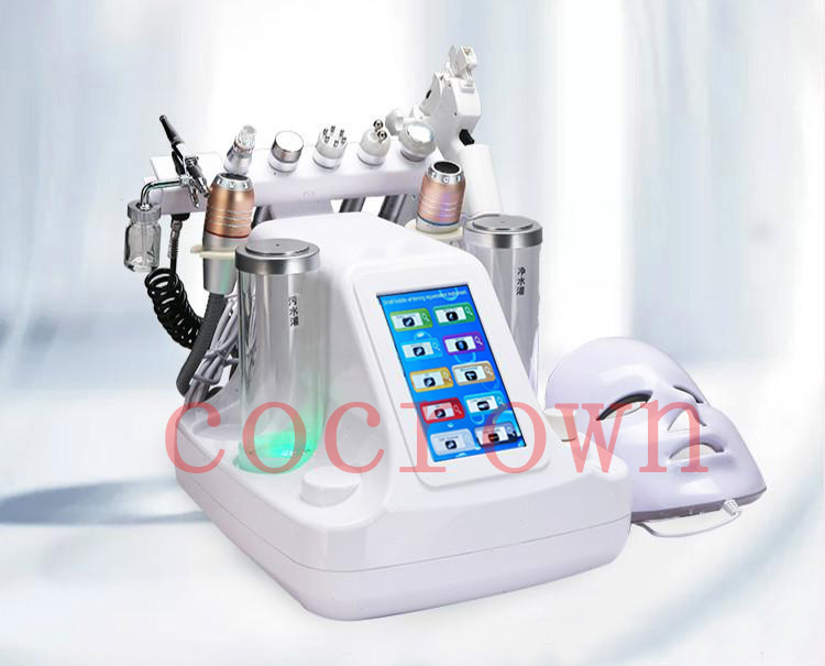 10 In 1 HIFU Hydra Dermabrasion RF Bio-lifting Spa Facial Machine Hydro Microdermabrasion Face Spa Machine Water Dermabrasion