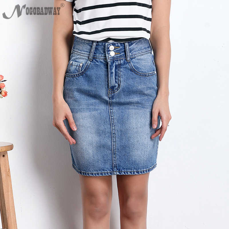 c6614a3958d NOGOBADWAY high waist short denim skirts womens 2018 summer lace up ladies  casual slim mini pencil