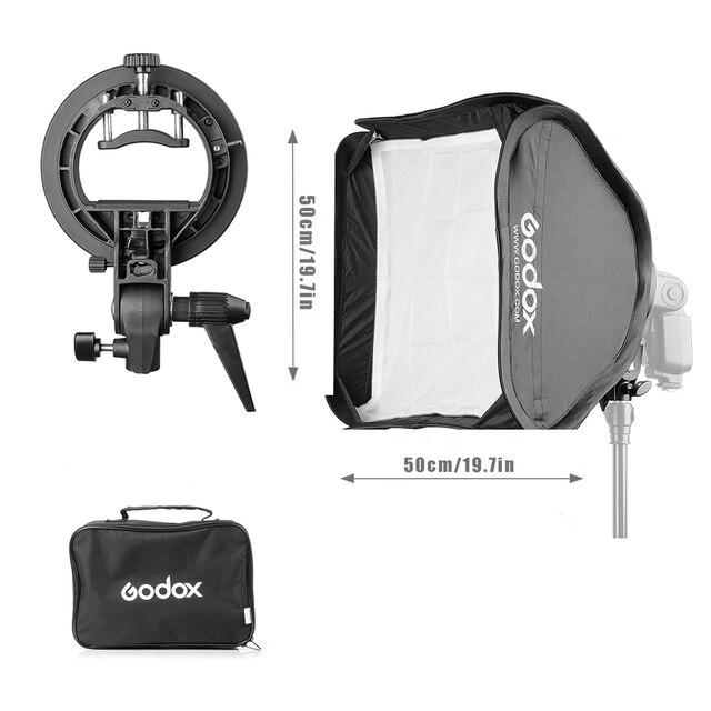 "Godox 80*80 см 31.5 ""X 31.5"" Bowens Softbox Диффузор с S-type Кронштейн Держатель для Фото-Студия Speedlite Вспышка Света V850 V860"