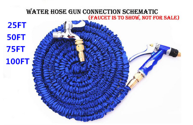 100ft garden hose. 25FT -100FT Garden Hose With Copper Connector High Quality Magic Retractable Water Hose+ 100ft