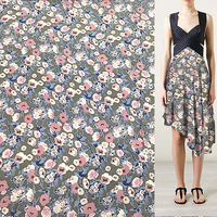 140cm width sand wash silk Crepe DE chine fabric abstract floral pattern,SCDC750