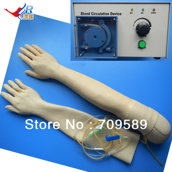 ISO Realistic Arm Model, Multifunctional IV Injection Training Arm economic injectable training arm model with infusion stand iv arm injection teaching model