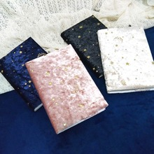 Starry Night Beautiful Big Journal Velour Fabric Soft Cover Notebook Diary Stationery Gift Replaceable Papers christian journals soft cover notebook journal