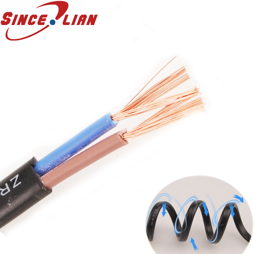 SINCELIAN Monitoring Line Soft Wire RVVB2 1mm 2core Flat Sheathed Cable PVC Waterproof Power Cable For Camera Security LED